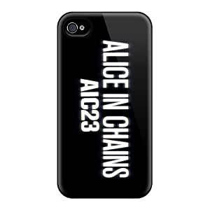 Scratch Protection Hard Phone Cover For Iphone 4/4s (SlZ150bpVB) Customized Nice Alice In Chains Band Pattern