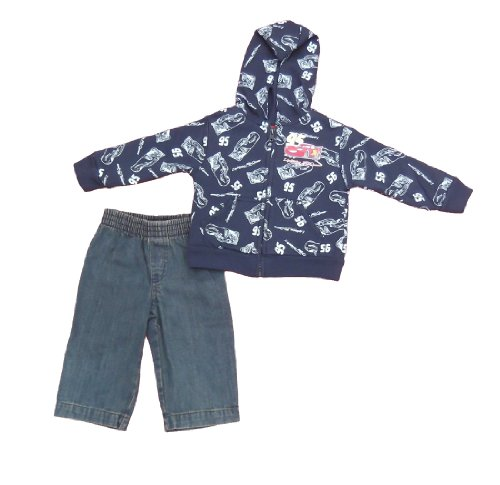 Disney Cars Infant Boys 2pc Hooded Jeans Set Navy