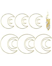 12 Pack 4 Size Gold Dream Catcher Hoops Metal Crafts Rings Floral Hoops Macrame Hoops Ring for Wedding Wreath Decor, DIY Dream Catcher, Macrame Wall Hanging Craft, Home Decor, (2/4/ 6/8 Inch)