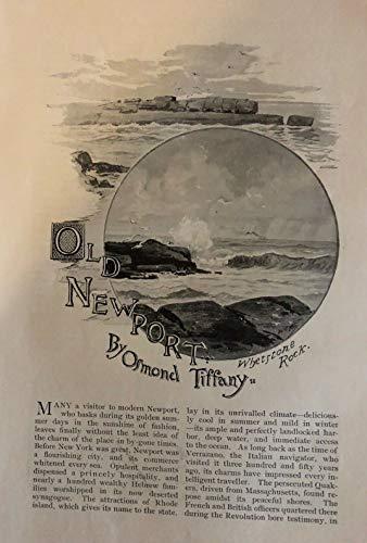(1893 Old Newport Rhode Island Goat Island Light House Kingscote Whitehall)