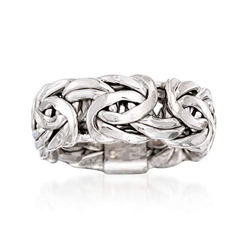 Ross-Simons Sterling Silver Large Byzantine Ring
