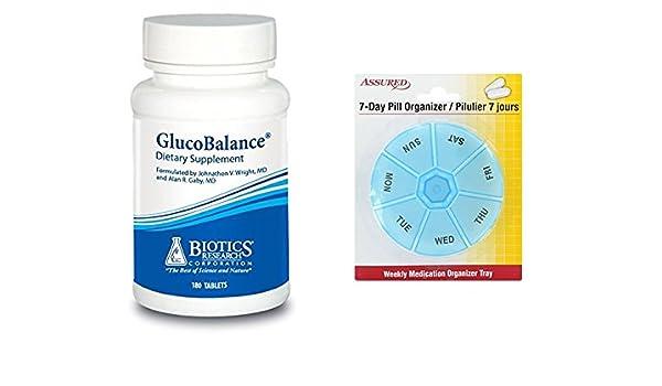 Amazon.com: Biotics Research GlucoBalance - 180 cápsulas con organizador de píldora de 7 días gratis: Health & Personal Care