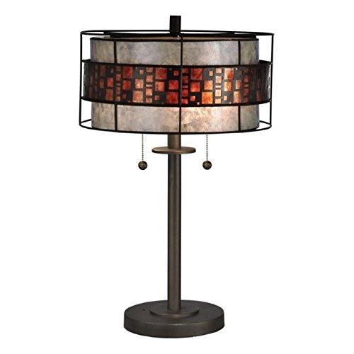 (Dale Tiffany TT13199 Cobblestone Tiffany Table Lamp Bronze)