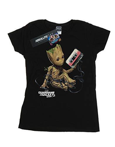 Galaxy de Marvel The mujer de para Camiseta Negro Guardian Tape Marvel Of 0xBUwq