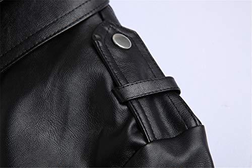 Urban Vintage In Uomo Xy106 Retrò Zip Con Incrociata Giacca Vera Fit Da Nera Motociclista Pelle Slim wFqZ78xpt