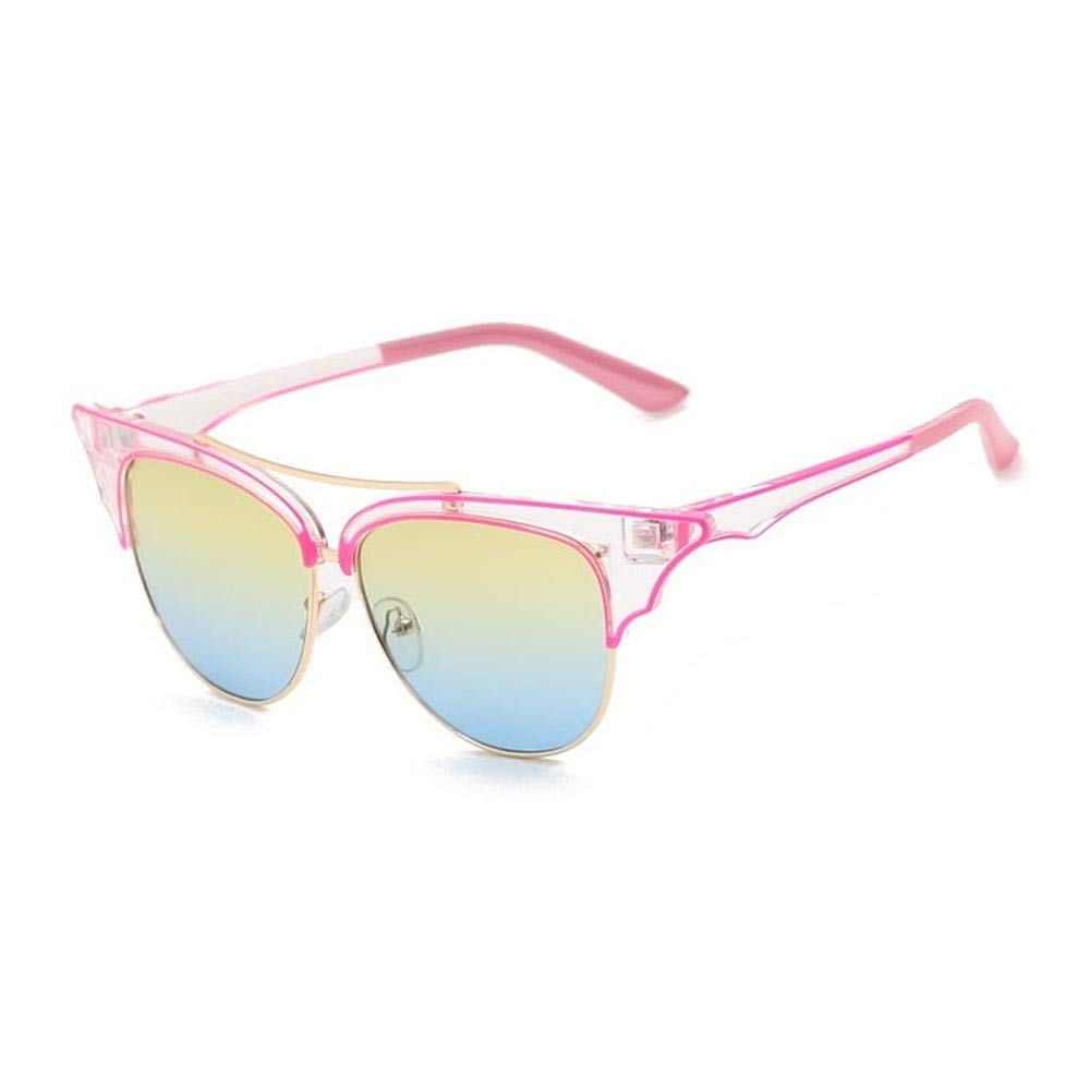 Pink and white Alvndarling Vintage Sunglasses Women's Round Outdoor Mountaineering Travel Sunglasses