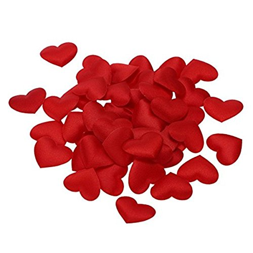 - MoMolly 50Pcs Love Heart Shaped Petals 5cm Extra Large Wedding Valentines Decoration Party Supply Table Confetti Decoration (Red)