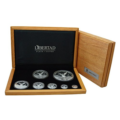 MX 2016 Mexican Libertad 7 x Proof Coins Set 2016 Rare Mint State (Silver Mexican Coin Set)