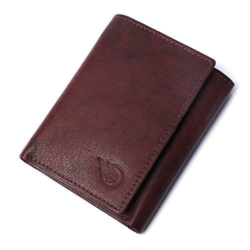 ad660137dc06 Amazon.com: RUGE Men's Tri-Fold Wallet (Brown),tri fold wallet buck ...