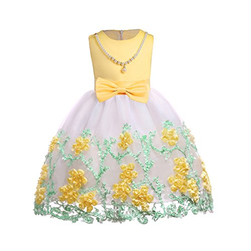 AiMiNa Girl 3D Flower Princess Party Holiday Dresses Accessories Age 3-10 Years