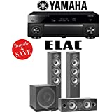 Yamaha AVENTAGE RX-A1080 7.2-Channel 4K Network AV Receiver + Elac F6.2 + Elac C6.2 + Elac Sub3010-3.1-Ch Home Theater Package