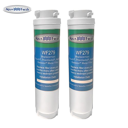 Price comparison product image Aquafresh WF279 Replacement for Bosch 644845 Ultra Clarity,  Haier 0060820860,  Miele KWF1000 Refrigerator Water Filter (2 Pack)