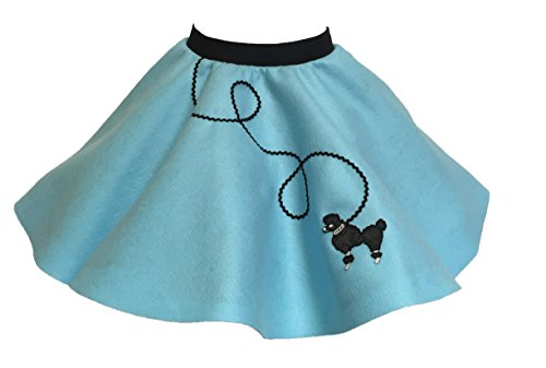 [Poodle Skirt for Girls (4/5/6, Light Blue)] (Full Bobby Light Costume)