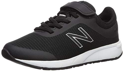 New Balance Boys' 455v2 Running Shoe, BLACK/WHITE, 4.5 M US Big Kid