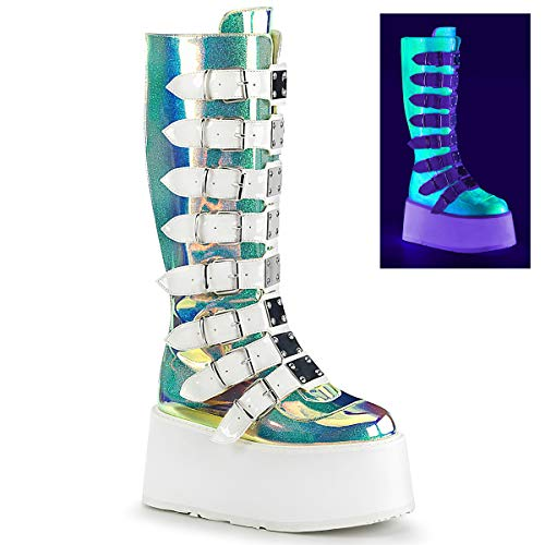 Demonia Womens DAMNED-318/UVGRNGVL Boots