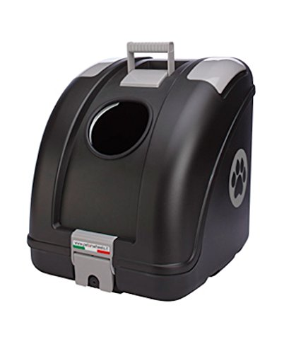 Pet on Wheels Pet Carrier for Dog and Cat Easy Mounting on Scooter Motorcycle Bike and also suitable for Car I Main Colour Black Grey Inserts