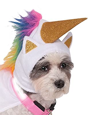 Rubie's Pet Unicorn Cape with Hood and Light-Up Collar