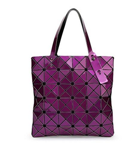 Geometry Personalidad Lady Bag Lingge Diamond Bolso Bag moda silver hombro de la purple BAO Bolso de vAwTaa