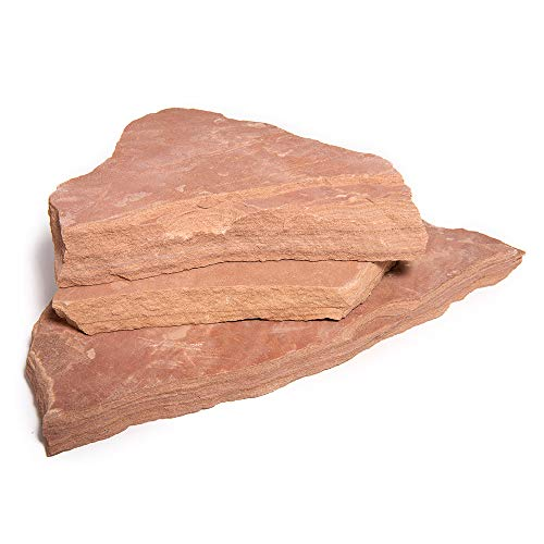 Landscape Patio Flagstone | 2000 Pounds | Natural Rock Pathway Stepping Stone Slabs for Gardens, Terrariums, Landscape Design, Driveway Pavers and Walkway Steppers (Arizona Rosa)
