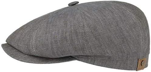 Stetson Hatteras Flatcap linnen damesherenmuts met katoenen voeringplatte pet met zonnebescherming UV 40pet voor voorjaarzomerballonmuts
