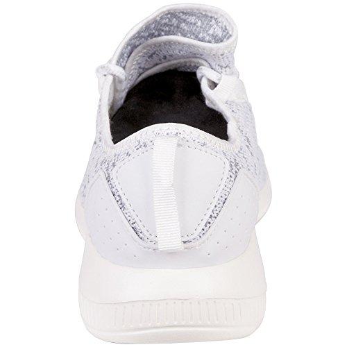 Kappa grey Adulte Mixte Baskets White White grey Flap 1016 1016 Blanc 7aU7w