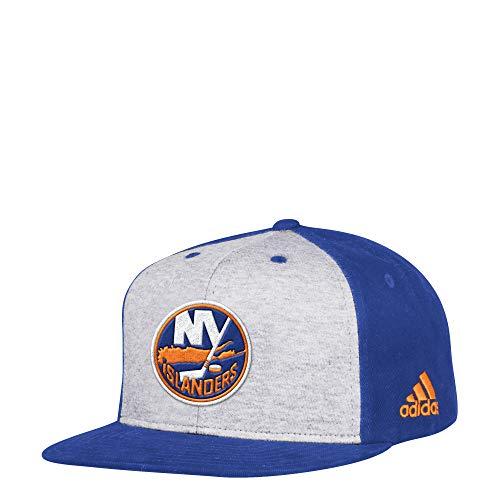 f5d2bd13384 adidas NHL New York Islanders Flat Brim Snapback Hat