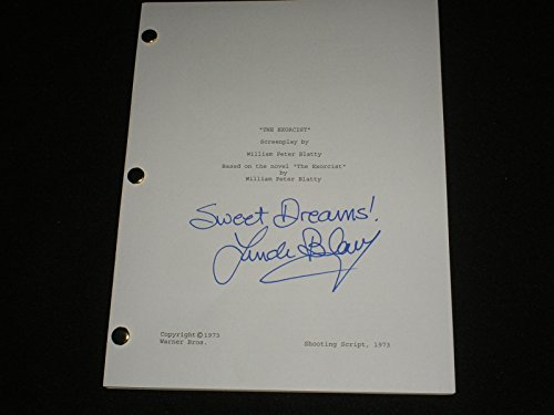 Signed Sweet - LINDA BLAIR Signed The Exorcist SCRIPT Sweet Dreams Autograph