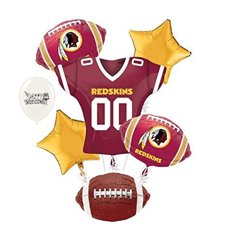 (Washington Redskins NFL Football Party Balloon Bouquet Bundle)