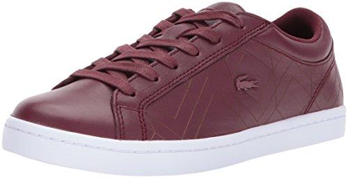 Lace Sneakers Lacoste (Lacoste Women's Straightset Lace 417 1 Sneaker, Dkburgndy, 7 M US)