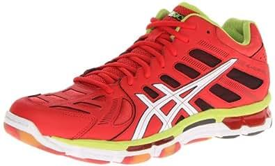 ASICS Men's Gel-Volleycross Revolution MT Volley Ball Shoe,Blood Orange/White/Lime,9.5 M US