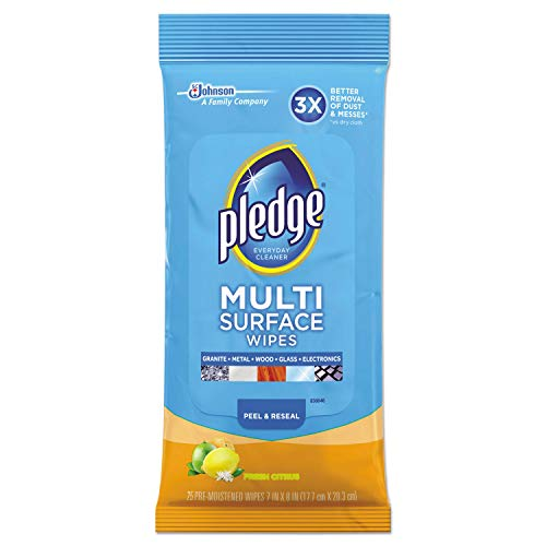 Pledge Multi Surface Everyday Wipes, 25 each