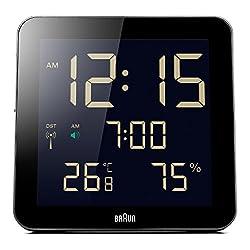 Braun BNC014BK-RC Temperature/Humidity Quartz Wall Clock