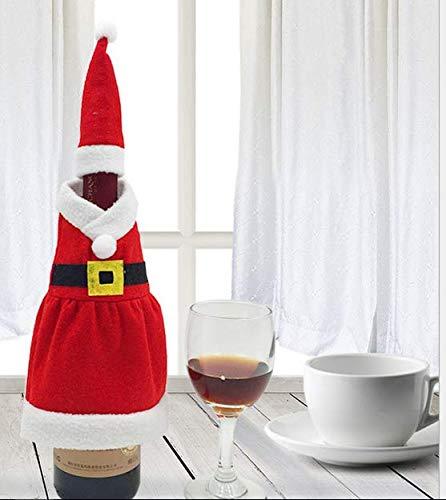 XBY.mi 1PC Conjunto de Tapa de Botella de Vino Tinto de Navidad ( Vestido de Navidad )