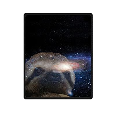 Sloth Nebula Galaxy Space Universe Soft Fleece Travel Blankets Throws - 40 By 50 Inch - 50, Inches, 40, Inches