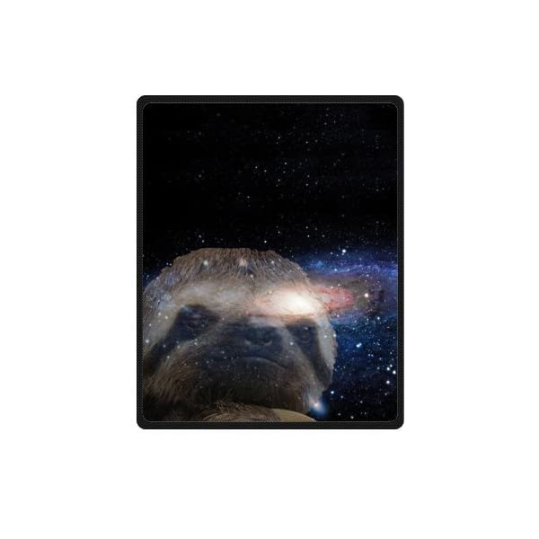 Sloth Nebula Galaxy Space Universe Soft Fleece Travel Blankets Throws - 40 By 50 Inch -