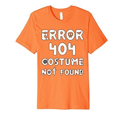 Good Last Minute Halloween Costumes (Mens Error 404 Costume Not Found - Last Minute Halloween T-Shirt XL Orange)