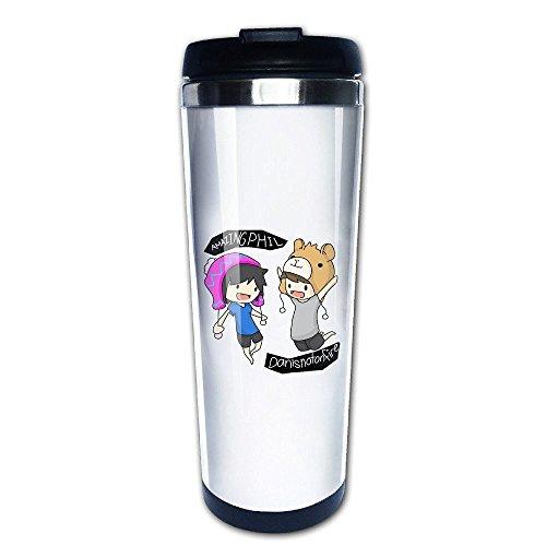 ALIIXUN2 Dan And Phil Stainless Steel Mug / Coffee Thermos & Vacuum Flask