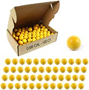 VLIKE Paintball Caliber Rubber Ball Reusable Training Paintballs