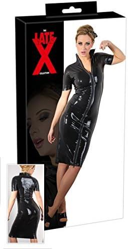 LATE X Latex Zip Kleid, 2x große