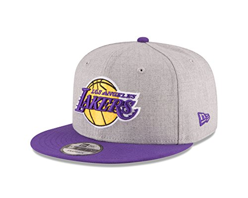 NBA Los Angeles Lakers Men's 9Fifty 2Tone Heather Snapback Cap, One Size, Heather Gray