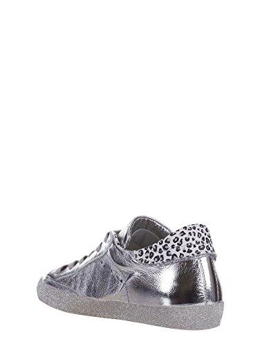 para mujer Zapatillas plateado Piel plateado Model de Philippe w1CIqq