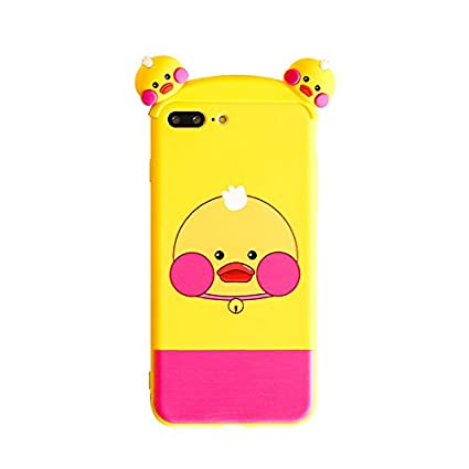 801c57261c Amazon.com: Soft TPU 3D Cartoon Yellow Duck Case for Apple iPhone 7+ ...