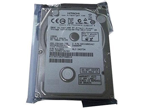 - Hitachi 160GB 5400RPM 8MB Cache SATA 3.0Gb/s 2.5