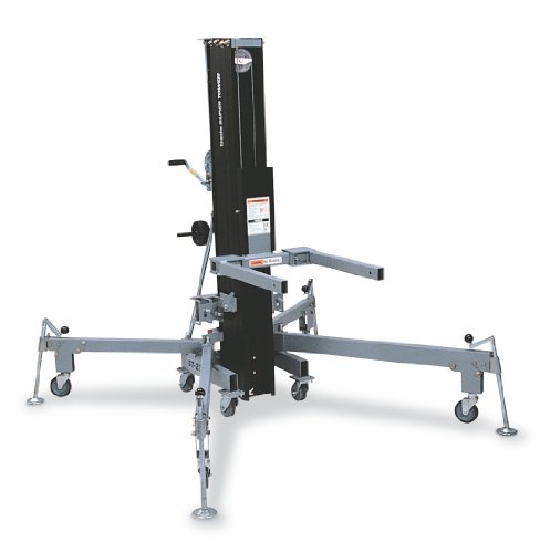 Genie-Super-Tower-ST-20-Truss-Rigging-Lift-with-Anodized-Matte-Black-Finish-800-lbs-Load-Capacity-Lift-Height-21-25