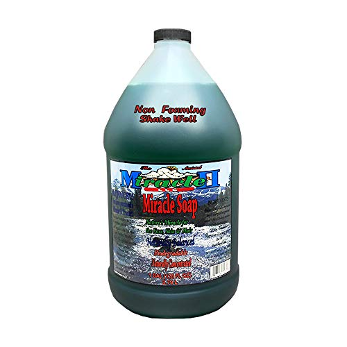 (Miracle II Non-Foaming Soap Concentrated Detergent for Dishes, Windows, Floor without Suds - 1 Gallon)