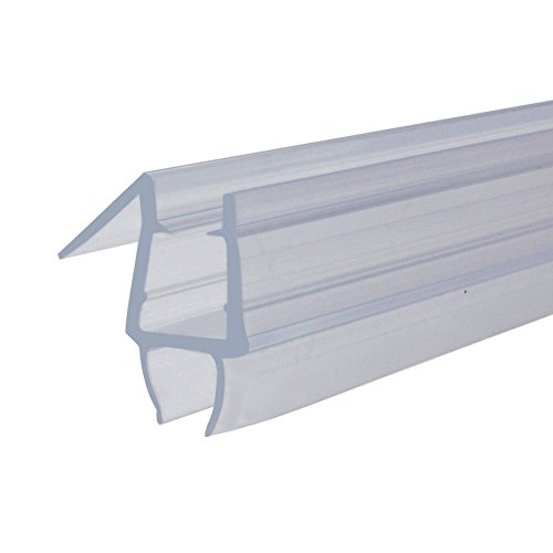 Homecart Frameless Shower Door Bottom Seal, 36-Inch Long, Vinyl, Clear, for 1/4-Inch Glass 1/4''(6mm) by Homecart