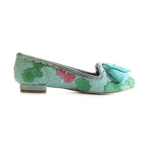 Irregular Choice Green Floral, Damen Ballerinas Grün Grün