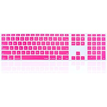 kuzy full size pink keyboard cover skin silicone for apple keyboard with numeric. Black Bedroom Furniture Sets. Home Design Ideas