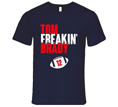Tom Brady Tom Freakin Brady 12 New England Football Fan T Shirt L Navy