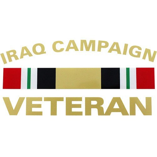 Iraq Campaign Veteran with Campaign Ribbon 5.75